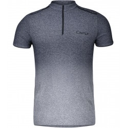 T-shirt technique sans coutures 1/2 zip